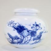 """Chinesische Teedose Keramik """"Lotusblume"""""""