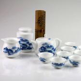 """Teeservice """"Chinesische Landschaft"""", Porzellan-Service 12-teilig, chinesische Teezeremonie"""