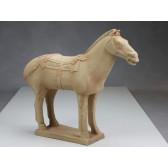 """Terrakotta-Krieger aus Xi'an """"Pferd"""" (hell, 42cm Serie)"""