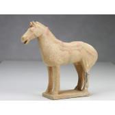 """Terrakotta-Krieger aus Xi'an """"Pferd"""" (hell, 22cm Serie)"""
