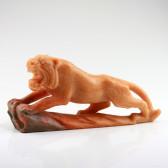 Tiger Steinfigur Feng Shui Steinskluptur, linksgewandt