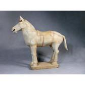 """Terrakotta-Krieger aus Xi'an """"Pferd"""" (hell, 80cm Serie)"""