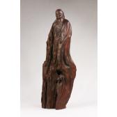 """Wurzelholz-Skulptur """"Zhang Heng"""", Holzfigur Statuette"""