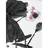 """Tuschemalerei """"Lotus im Mondschein"""", Xiong Wen"""