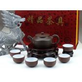 """Yixing Teeservice """"Alte Tradition"""", Fang Gu Yixing Ton.Teekanne"""