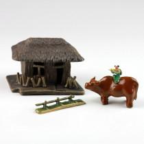 Chinesisches Bonsai-Figuren-Set, asiatische Pflanzendeko