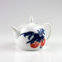 "Chinesische Teekanne ""Rosa Pflaume"", Porzellan-Teekanne"