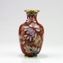 "Cloisonne-Vase ""Prachtvolle Chrysantheme"" (Cloisonné)"
