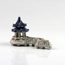 "Bonsai-Figur ""Chinesisches Teehaus"", Brunnen-Dekoration Bonsai-Keramik"