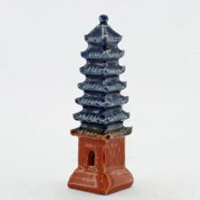 Bonsai-Figur Pagode, quadratisch