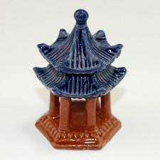 Bonsai-Figur chinesischer Pavillon, Keramik