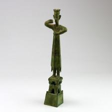 Stehende Bronzefigur Schamane (König), Sanxingdui-Replik