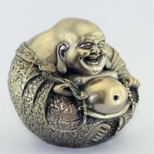 Budai Buddha-Figur Messing 10 cm