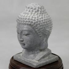 Buddha-Kopf Stein massiv