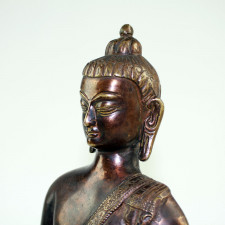 Shakyamuni Buddha-Figur, Siddharta Gautama Skulptur, Messing