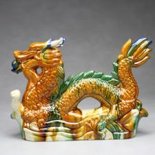 Chinesische Drachen-Figur mit Drachenperle groß, rechtsgewandt