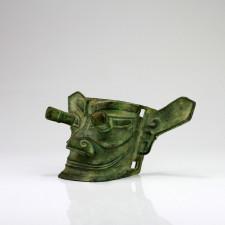 Chinesische Bronze-Maske, Replik Bronzefigur