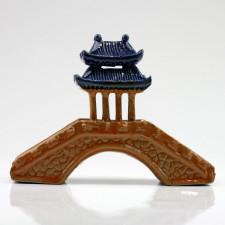 Asiatische Pavillonbrücke, Pflanzendeko Bonsai-Keramik (L)