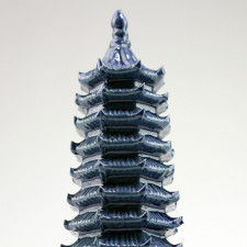 Chinesische Keramik-Pagode Pflanzendekoration , Bonsai-Deko (L)
