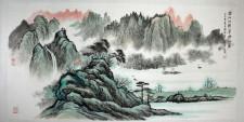 Chinesische Tuschezeichnung
