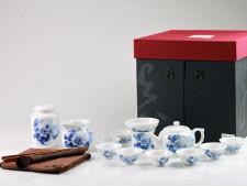 Chinesisches Teeservice Porzellan, Tee-Set 15-teilig, asiatische Teekultur
