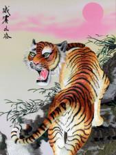 Chinesischer Tiger, Stickbild