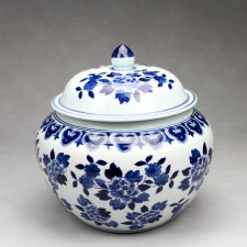 Deckelvase China Porzellan