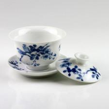 Gaiwan, Deckeltasse blau-weiß, Porzellanserie
