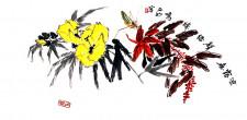 Chinesisches Fächerbild von Chen Zhengming