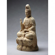 Holzskulptur Guan-Yin
