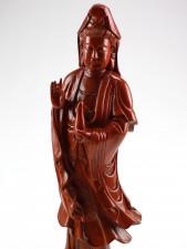 Holzschnitzerei Guanyin-Figur, Kuan Yin Holzskulptur