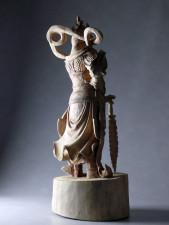 Holzskulptur Bodhisattva