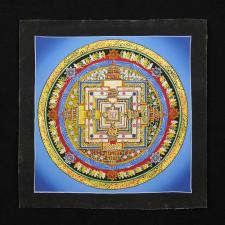Thangka, Kalachakra Mandala, blau