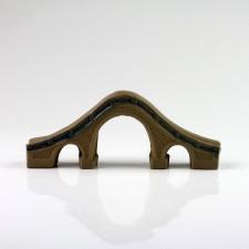 Chinesische Bogenbrücke Aquarium Dekoration Bonsai Keramik (XL)