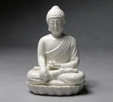 Buddha-Porzellanfigur weiß