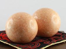 Qi-Gong Kugeln aus Stein, Orange