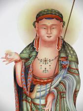Rollbild Buddha