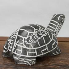 Schwarze Feng-Shui Schildkröte Steinfigur