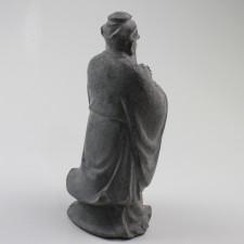 Steinfigur Kong FuZi, Konfuzius Statue aus Stein