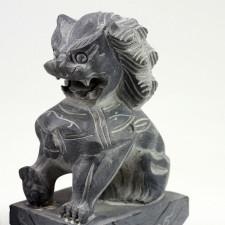 Fu-Hunde Steinfiguren, Tempelwächter Feng Shui, Wächterlöwen Paar