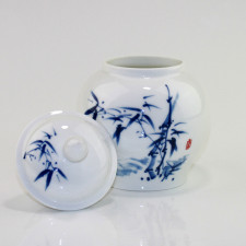 Chinesische Teedose Porzellan