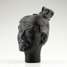 Terrakotta-Skulptur Kopf, Terrakottakrieger, Tonsoldat