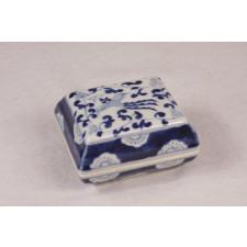 "Porzellanschale ""Phönix"", Porzellan blau-weiß"