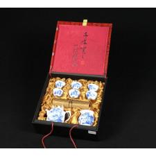 """Chinesisches Teeservice """"Traumhafte Berglandschaft"""" Manufaktur Guzhen"""