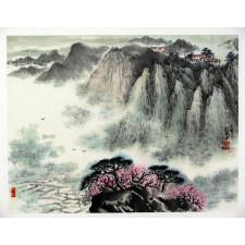 "Peng Guo Lan ""Berglandschaft im Vorfrühling"", chinesische Malerei"