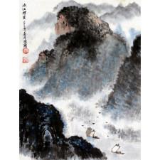 """Peng Guo Lan """"Nebel über der Schlucht"""", chinesische Malerei"""