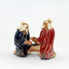 """Bonsai Figur """"Zwei Gelehrte"""", Deko aus Keramik"""