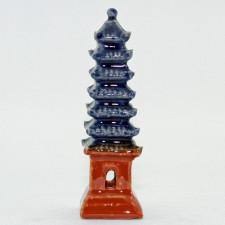 Bonsai-Figur Pagode, quadratisch - handgefertigte Keramik
