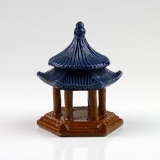 "Keramikfigur ""Tempel-Pavillon"", chinesische Garten-Dekoration"