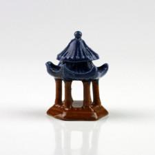 "Keramikfigur ""Chinesischer Tempel-Pavillon"", Bonsai-Deko"